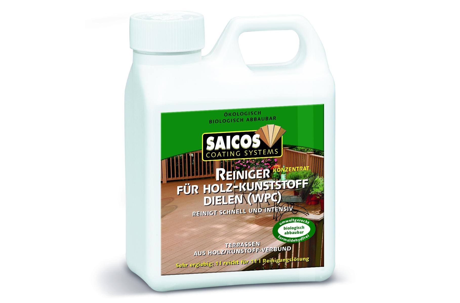 saicos - reiniger für holz-kunststoff-dielen (wpc) | woodi24